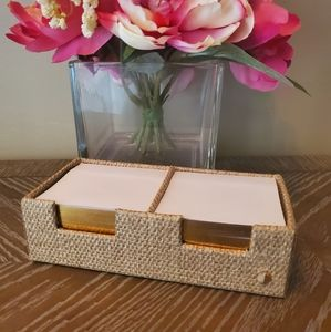 kate spade Office - Kate Spade Grass Cloth Sticky Note Tray